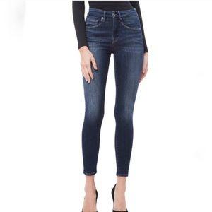 NWOT Good American Good Leg Crop High Rise Jeans